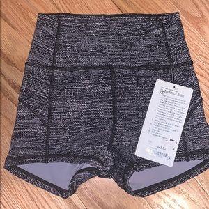 LuluLemon Spandex White and Black Shorts